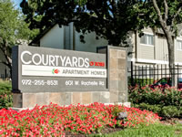 courtyard of roses sign